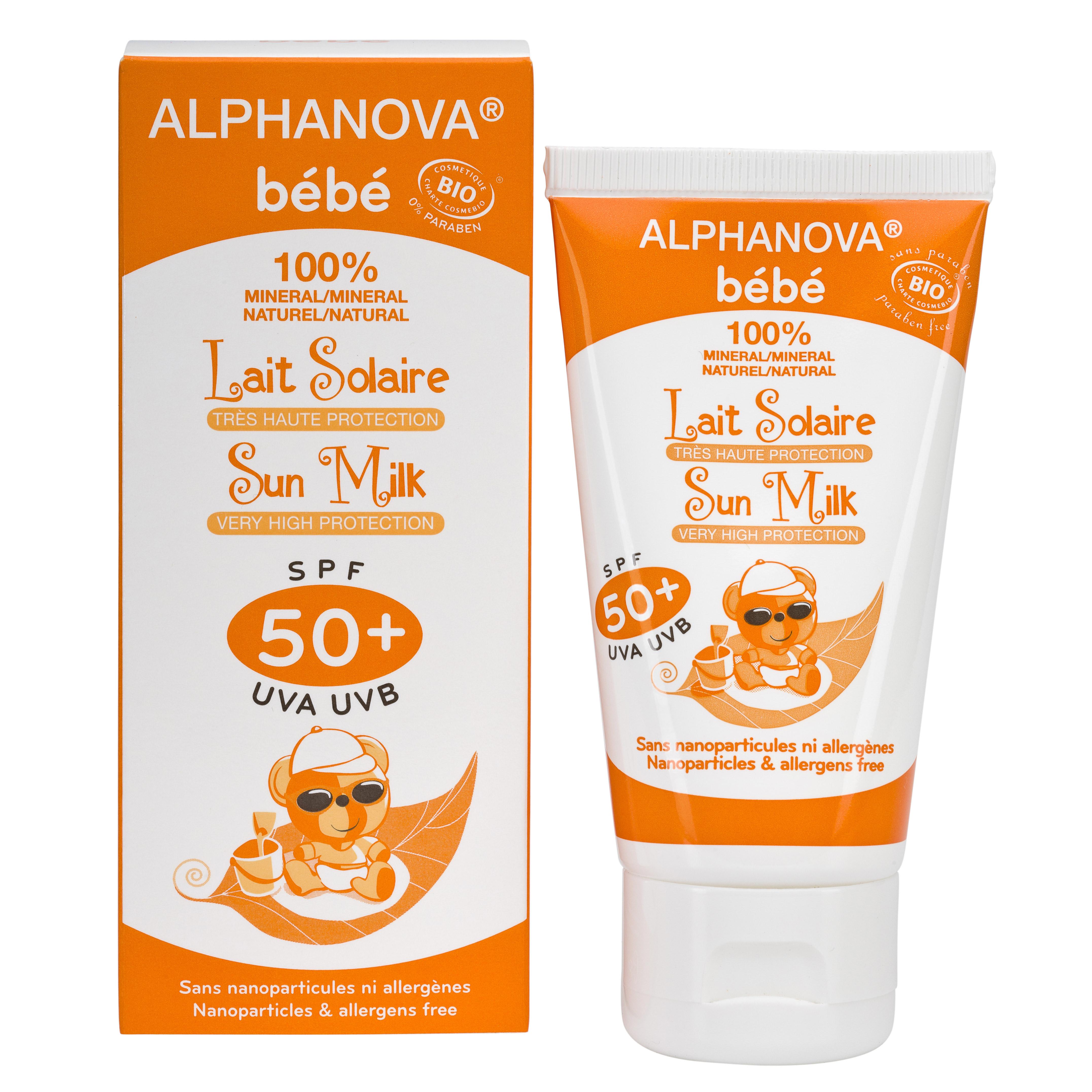 creme solaire alphanova bébé