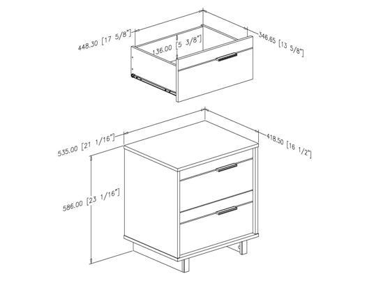 dimension table de chevet