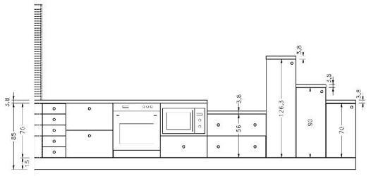 hauteur meuble bas cuisine