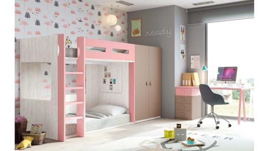 lit superposé avec bureau
