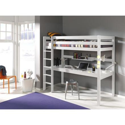 lit surélevé avec bureau