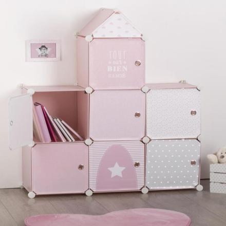 meuble rangement chambre fille