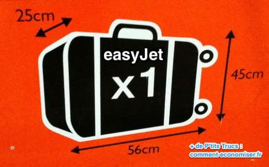 easyjet taille bagage a main