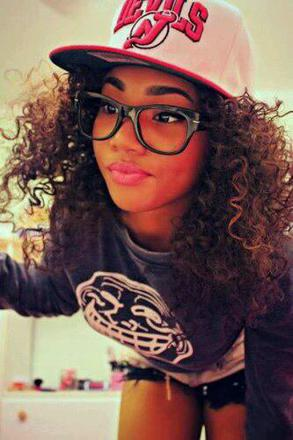 fille noir swag