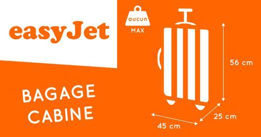 format valise cabine easyjet