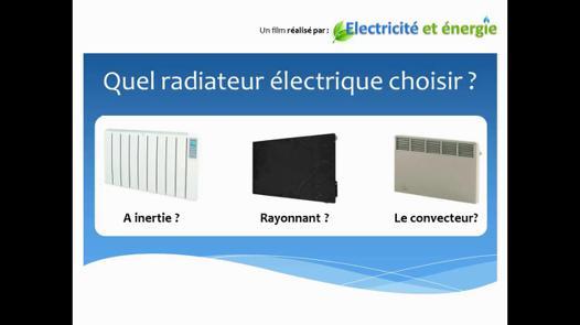 radiateur electrique que choisir