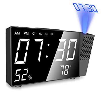 radio reveil projecteur
