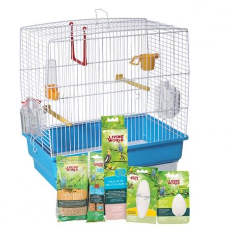 cage pour perruche ondulée