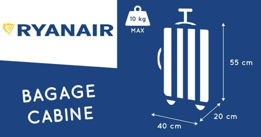 taille sac cabine ryanair