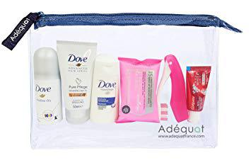 trousse de toilette avion