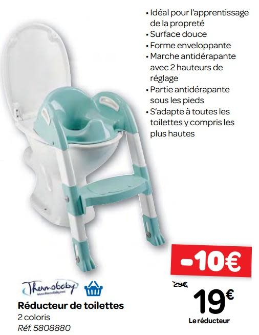 reducteur de toilette carrefour